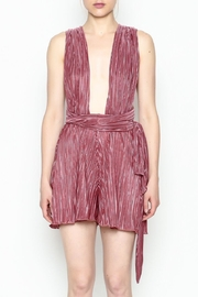 day and night Pleated Tie Romper - Product Mini Image