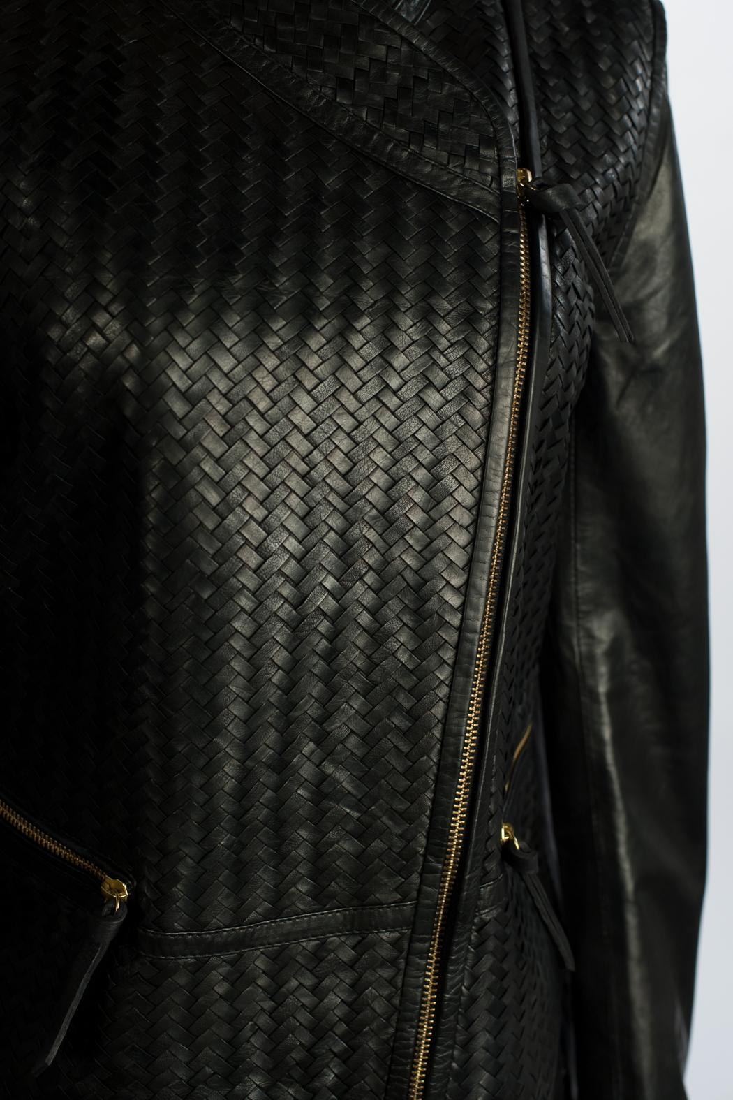 9fe3e6551 DAY Birger et Mikkelsen Woven Leather Jacket from Melbourne by ...
