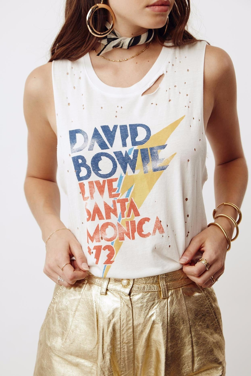 Daydreamer David Bowie Tee - Front Cropped Image
