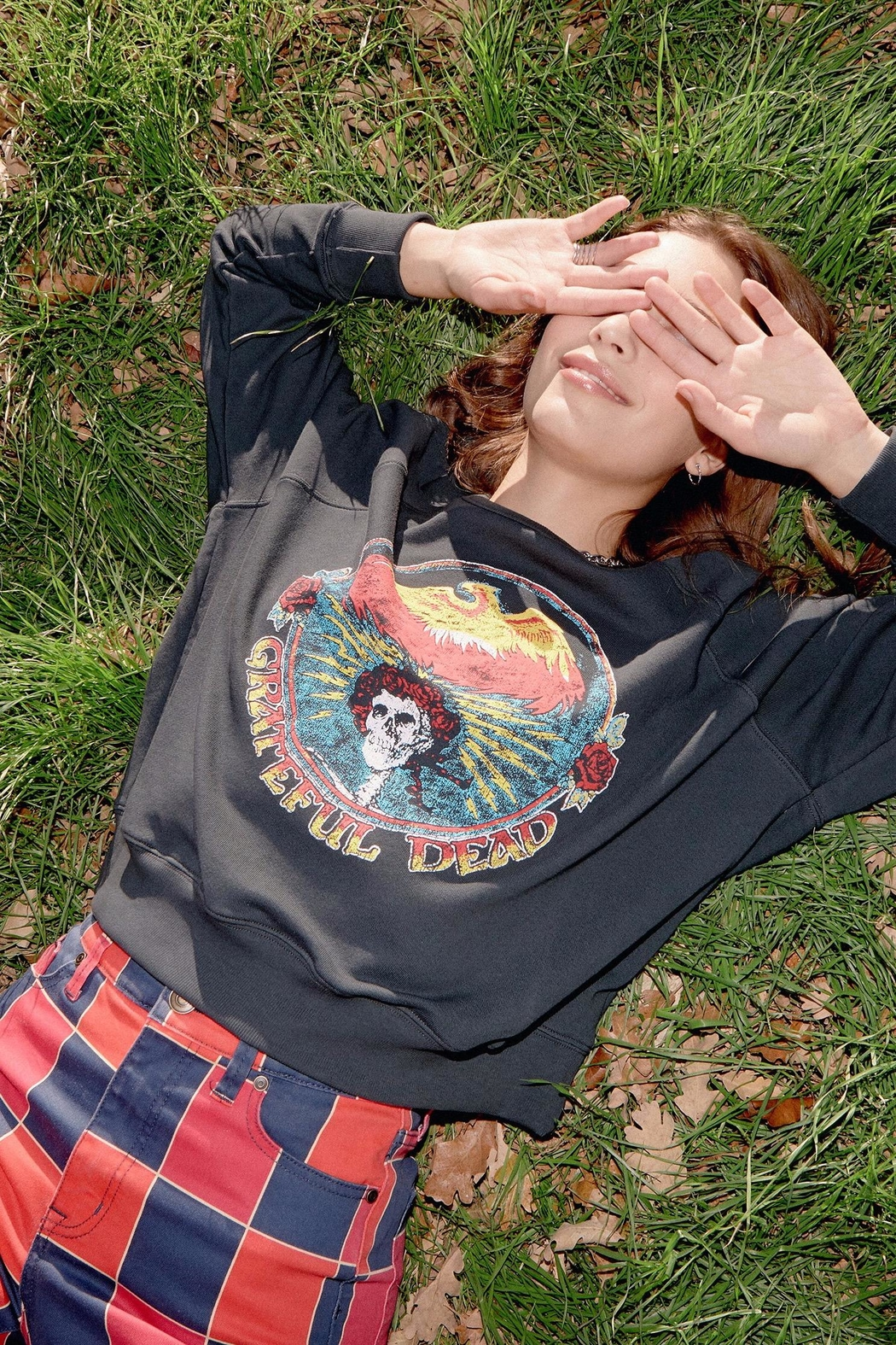Daydreamer Grateful Dead Crew Sweatshirt - Front Cropped Image