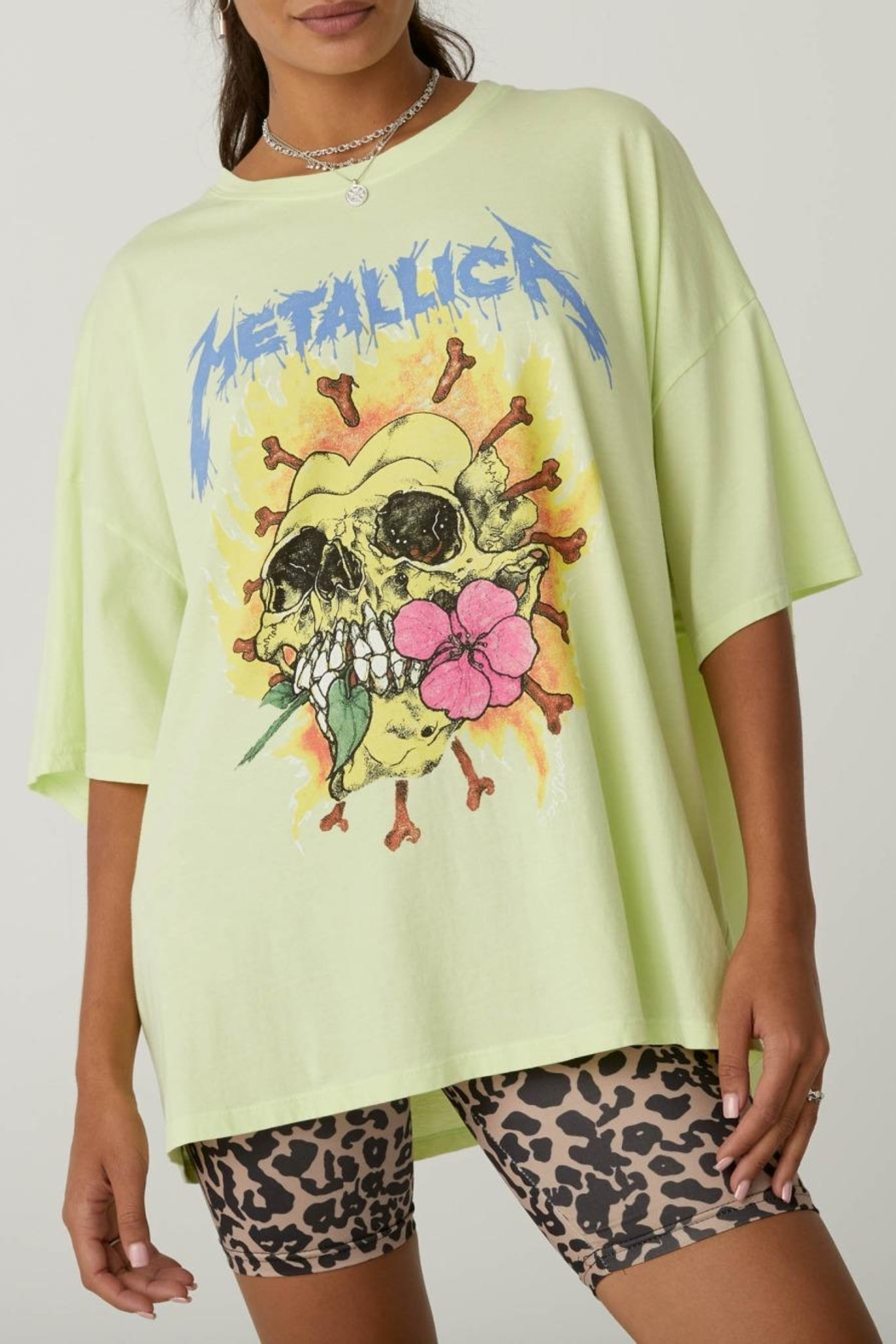 Daydreamer Metallica Acid Yellow - Back Cropped Image