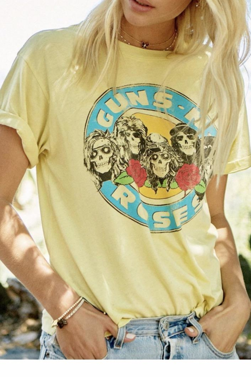 Daydreamer Yellow Gnr Tee - Front Full Image