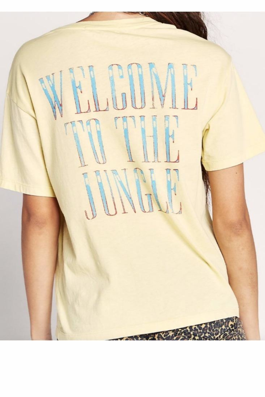 Daydreamer Yellow Gnr Tee - Side Cropped Image