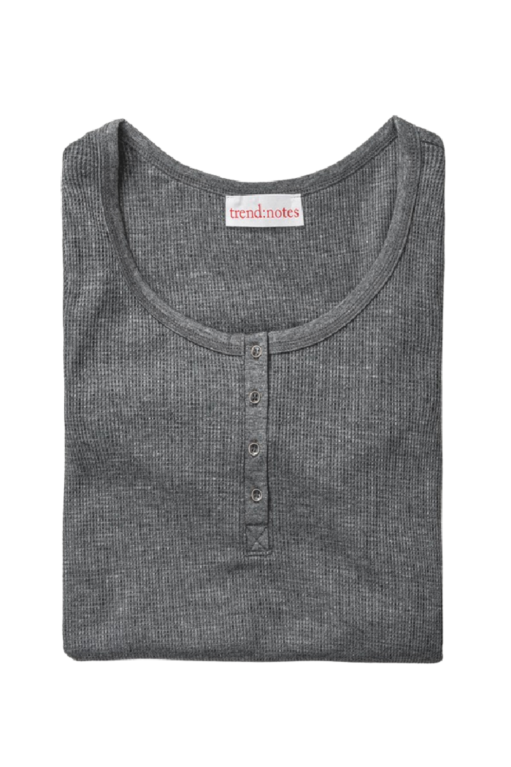 Trend Notes  Dayna Waffle Henley Top - Front Full Image