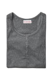Trend Notes  Dayna Waffle Henley Top - Front full body
