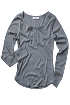 Trend Notes  Dayna Waffle Henley Top - Product List Image