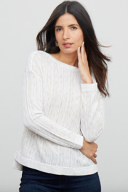 Nic + Zoe Daytrip Sweater, Light Sky - Front cropped