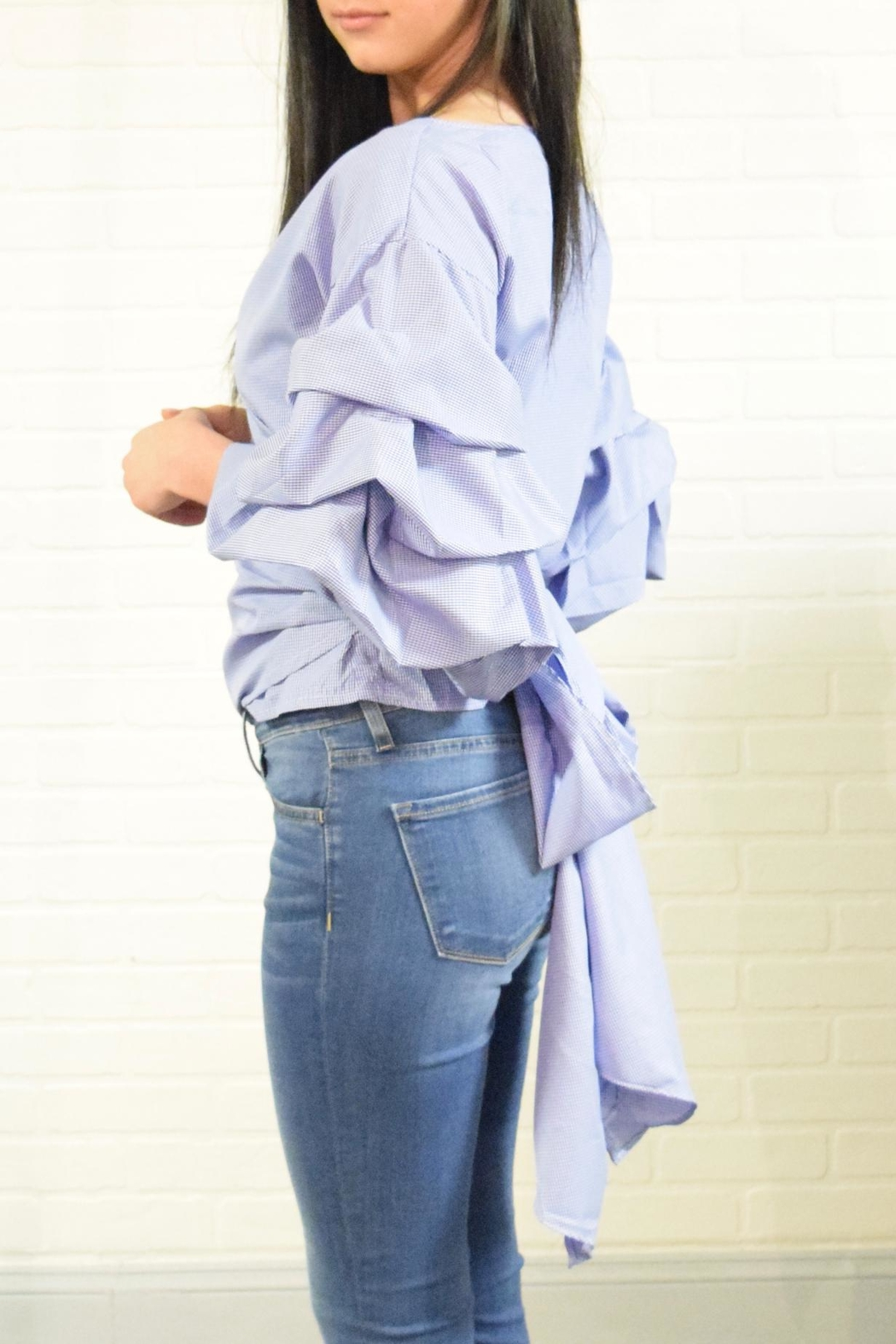 Dazz Bow Back Top - Front Full Image