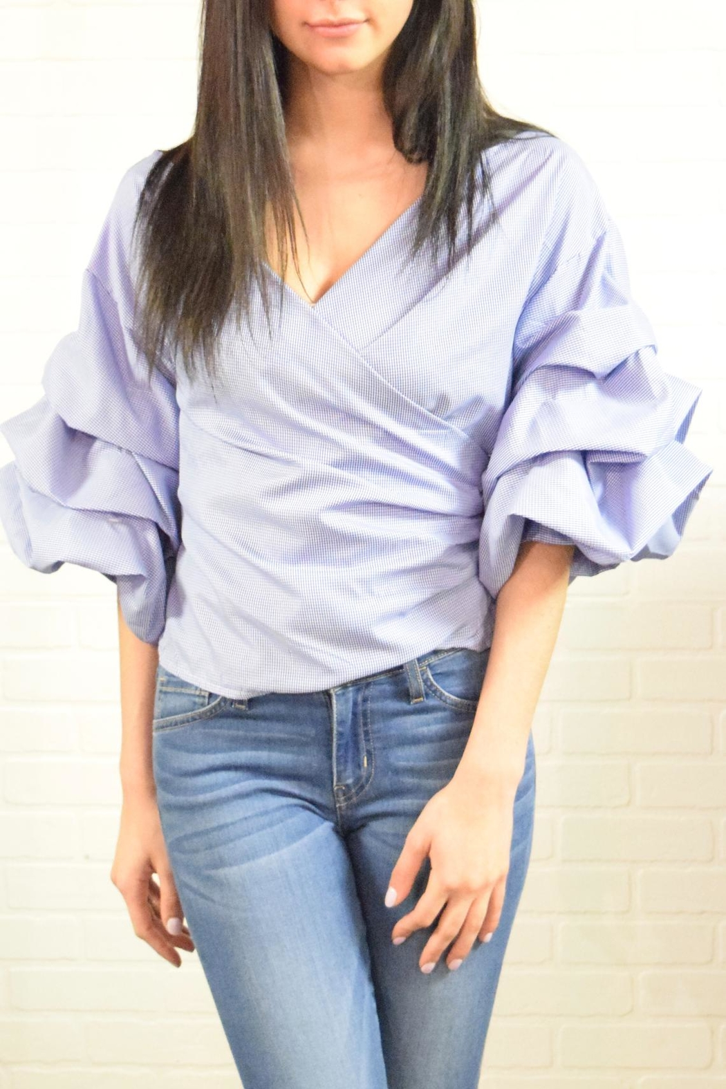 Dazz Bow Back Top - Side Cropped Image