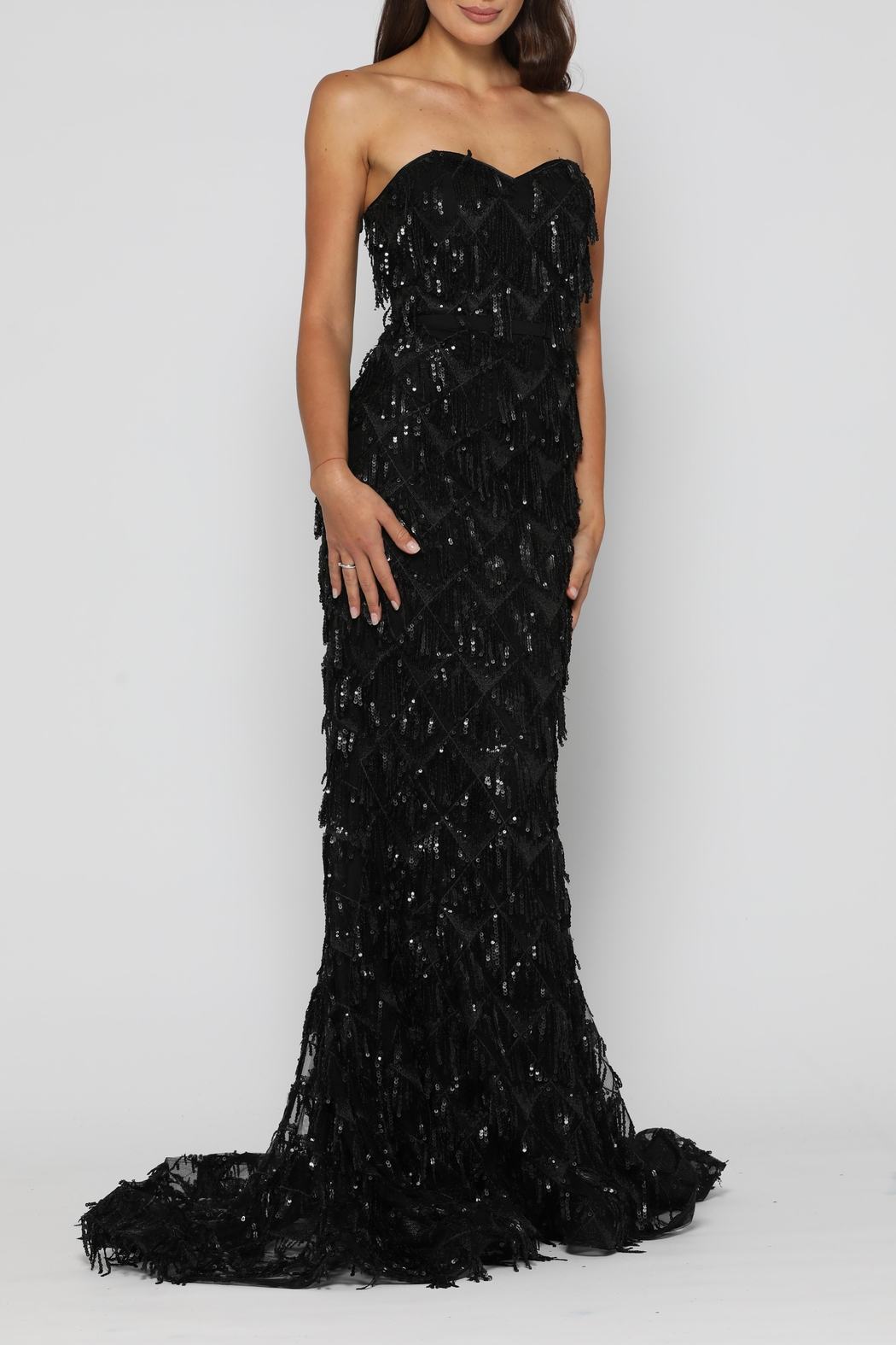 YSS the Label Dazzling Gown Black - Front Full Image