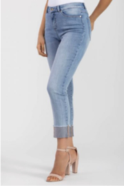 Tribal Dazzling Rhinestone Jeans - Front cropped
