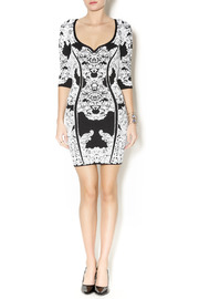 Wow Couture Damask Body Con Dress - Front full body