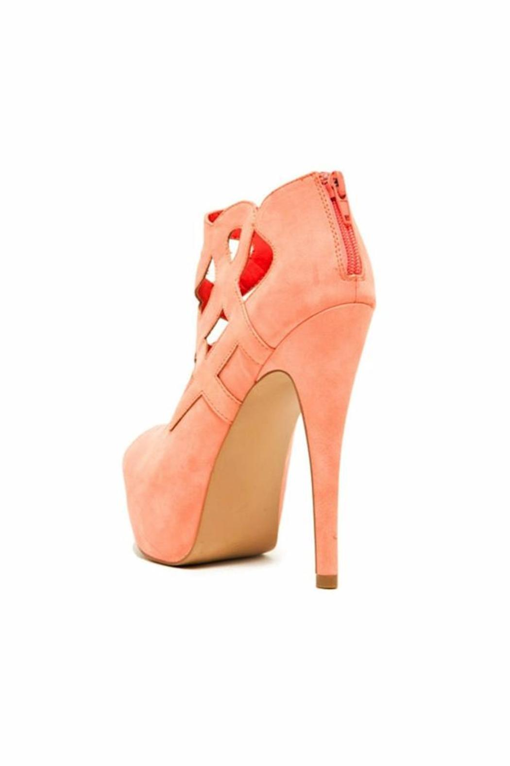 Qupid Caged Peep-Toe Stiletto - Side Cropped Image
