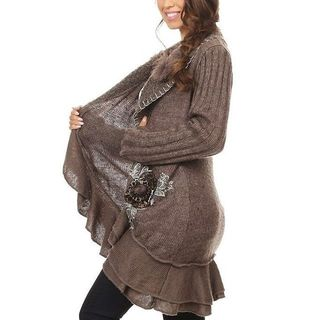 Shoptiques Brown Cardigan