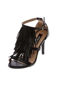 dbdk Fashion Black Fringe Heels - Product List Image