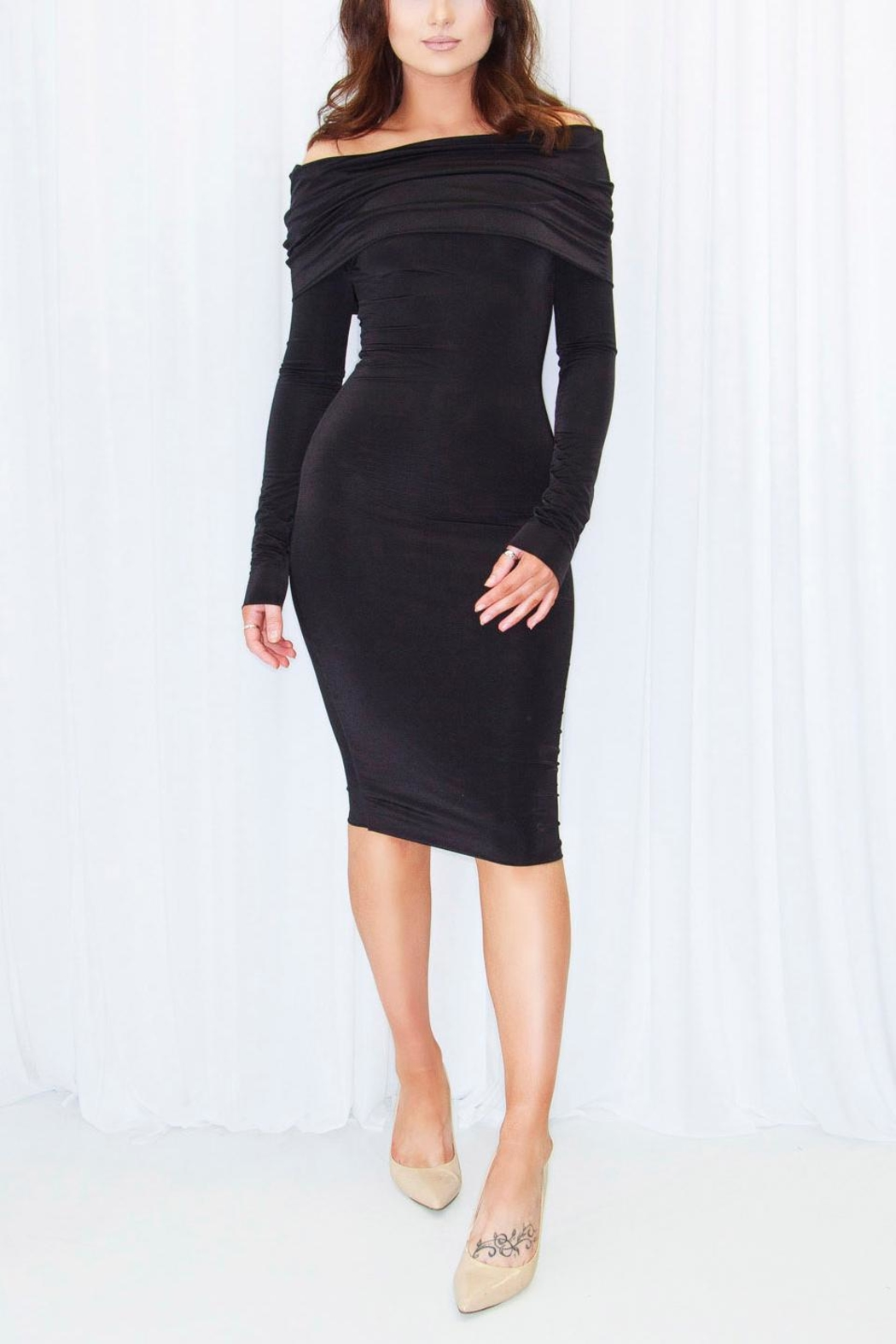DBL Courtney Midi Dress - Front Cropped Image