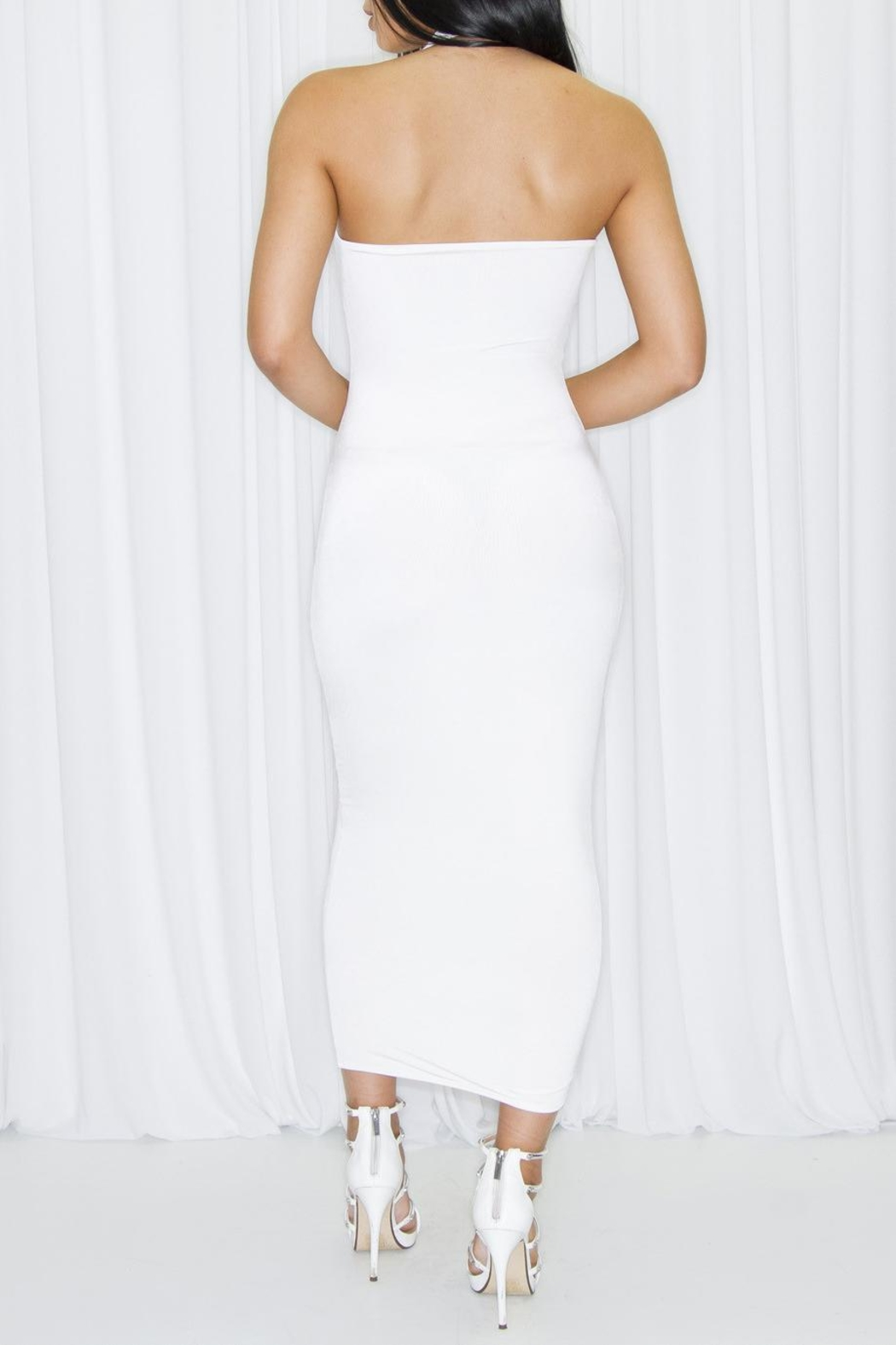 DBL Margot White Dress - Front Full Image