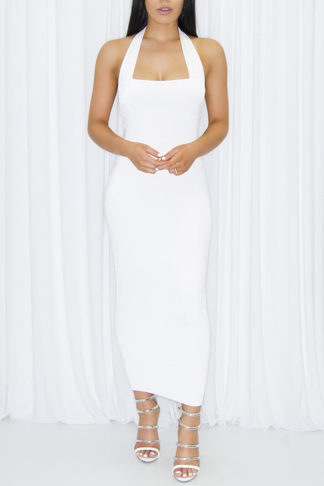 DBL Margot White Dress - Front Cropped Image