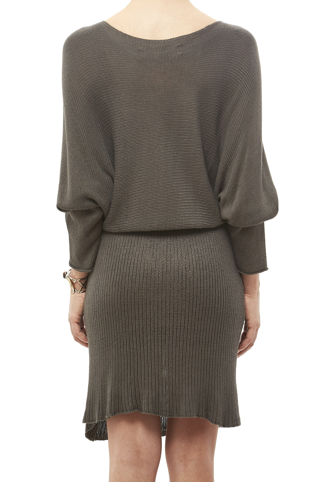 DC KNITS Bamboo Ashe Dress - Back Cropped Image