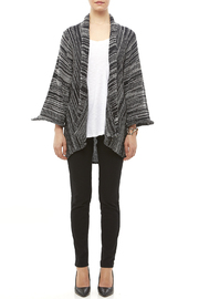 DC KNITS Black White Cardigan - Front full body