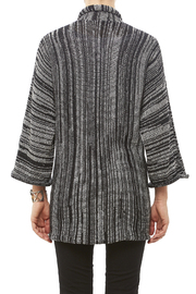 DC KNITS Black White Cardigan - Back cropped