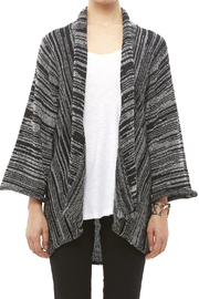 DC KNITS Black White Cardigan - Side cropped