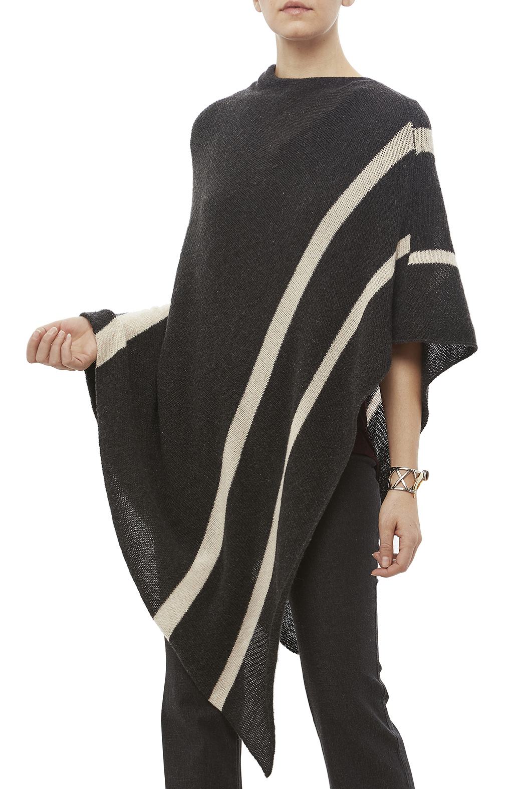 DC KNITS Cashmere Poncho - Front Cropped Image