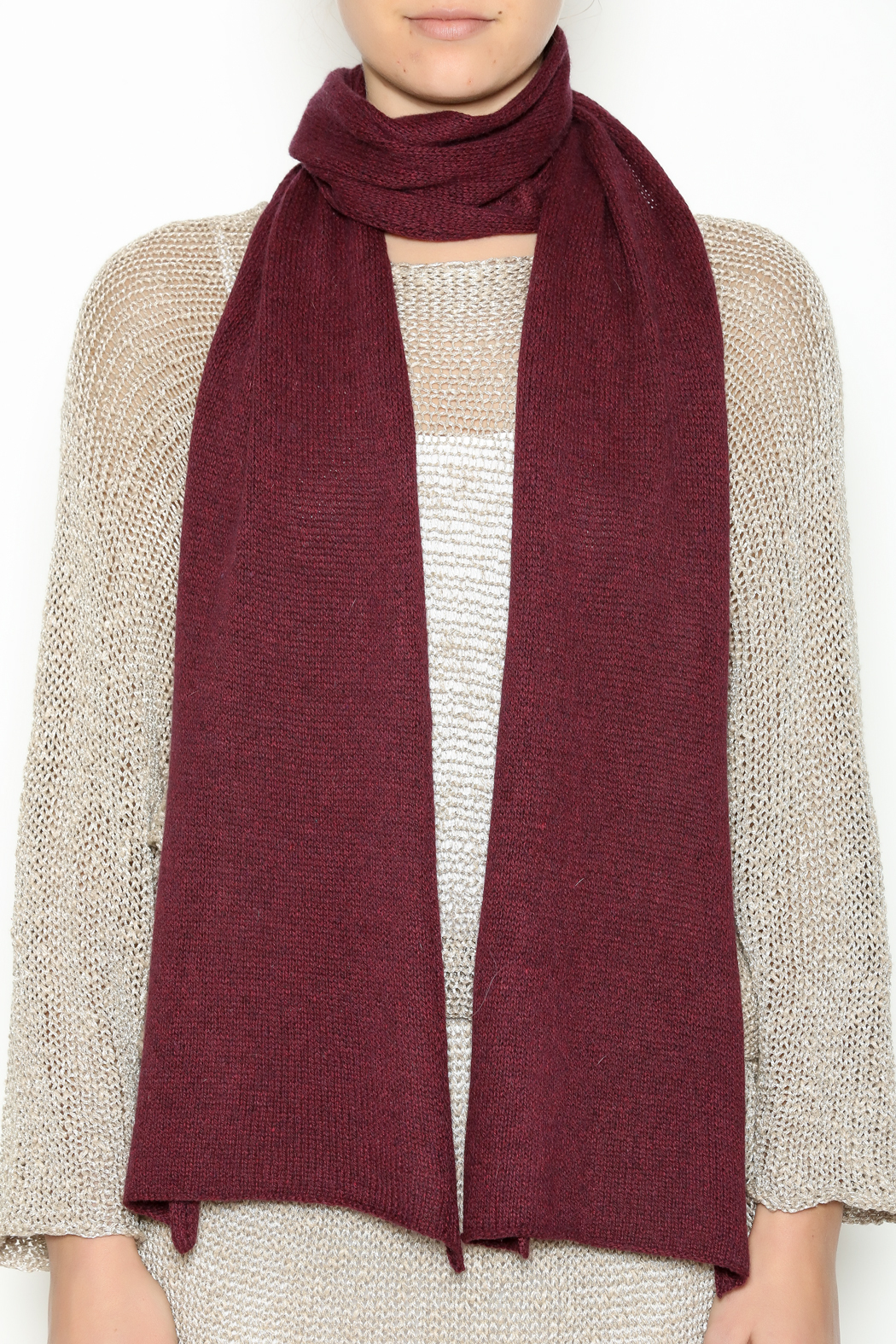 DC KNITS Cashmere Scarf - Back Cropped Image