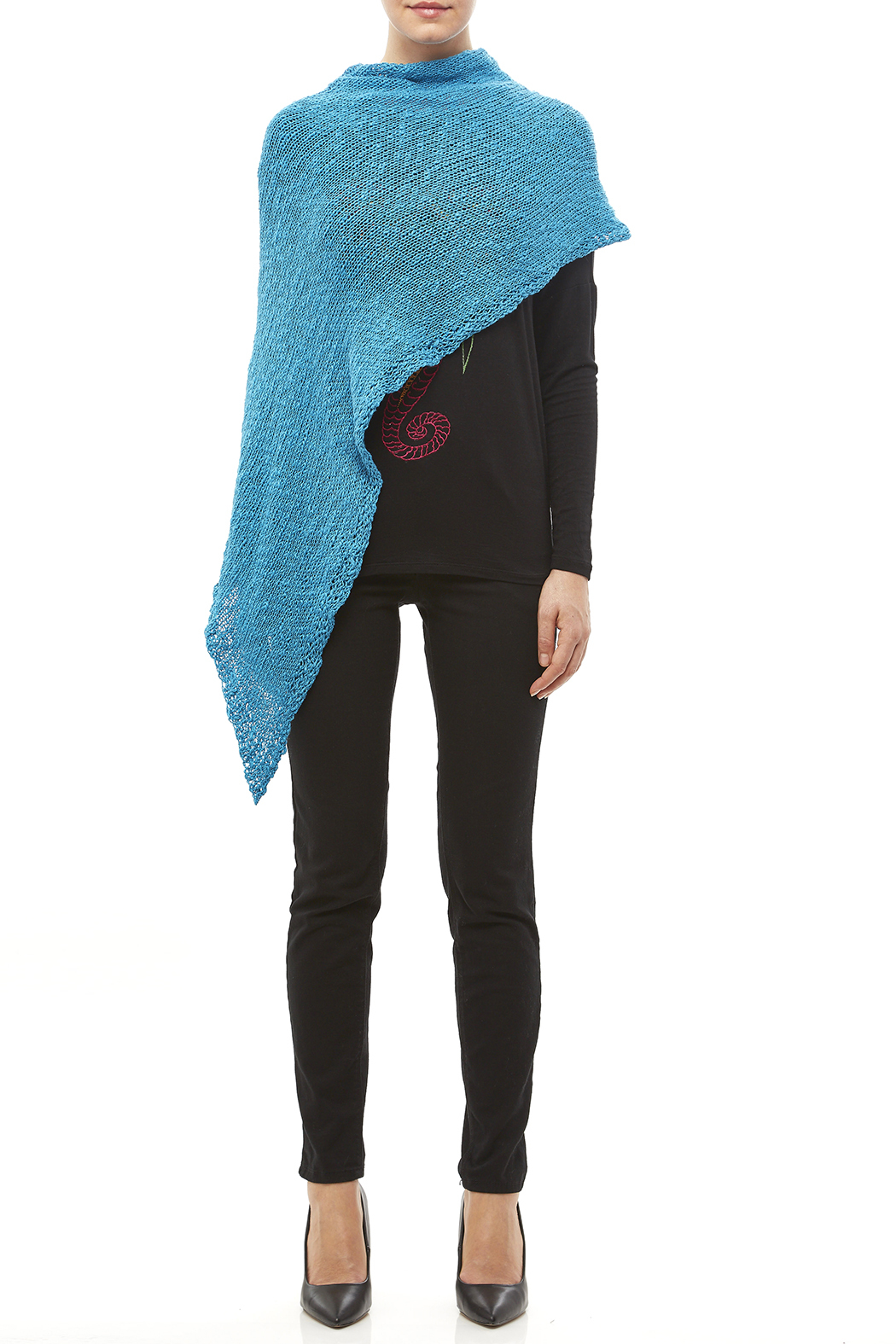 DC KNITS Cotton Chameleon Wrap - Front Cropped Image
