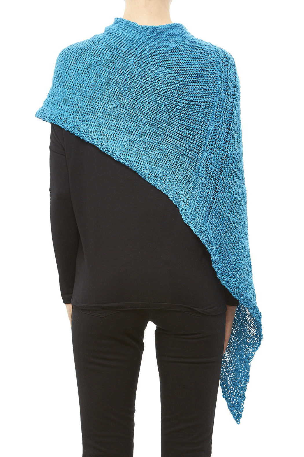 DC KNITS Cotton Chameleon Wrap - Back Cropped Image