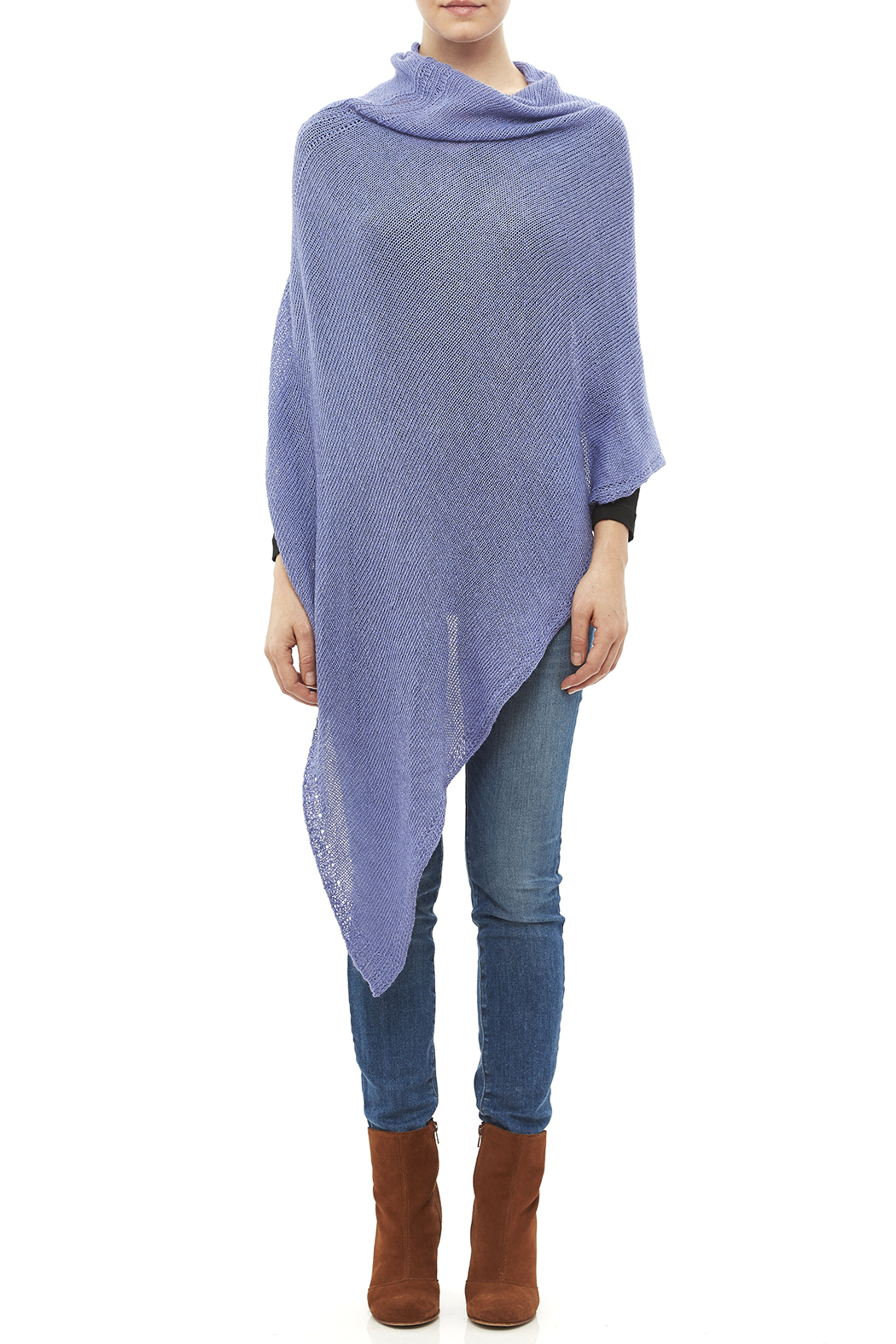 DC KNITS Periwinkle Chameleon Wrap - Front Full Image