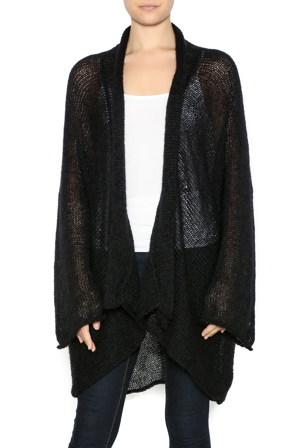DC KNITS Black Mohair Cardigan from New Mexico — Shoptiques a4867f735