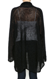DC KNITS Black Mohair Cardigan - Back cropped