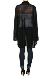 DC KNITS Black Mohair Cardigan - Side cropped