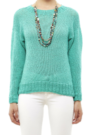DC KNITS Comfy Cotton Turquoise Sweater - Side cropped