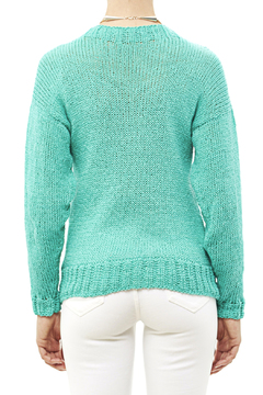 DC KNITS Comfy Cotton Turquoise Sweater - Alternate List Image