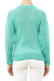 DC KNITS Comfy Cotton Turquoise Sweater - Back cropped