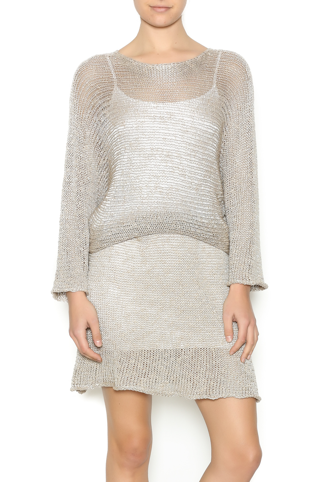 DC KNITS Champagne Sheen Dress - Main Image