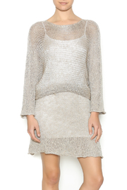 DC KNITS Champagne Sheen Dress - Front cropped