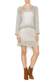 DC KNITS Champagne Sheen Dress - Front full body