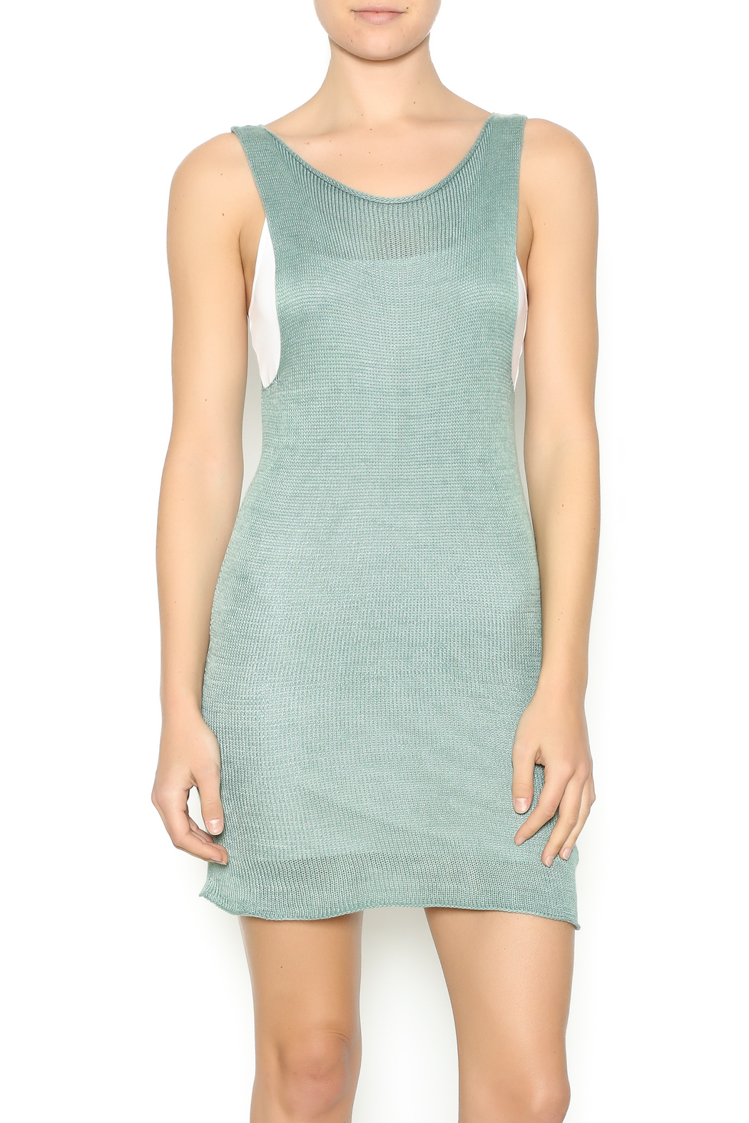 DC KNITS Sleeveless Bamboo Dress - Front Cropped Image