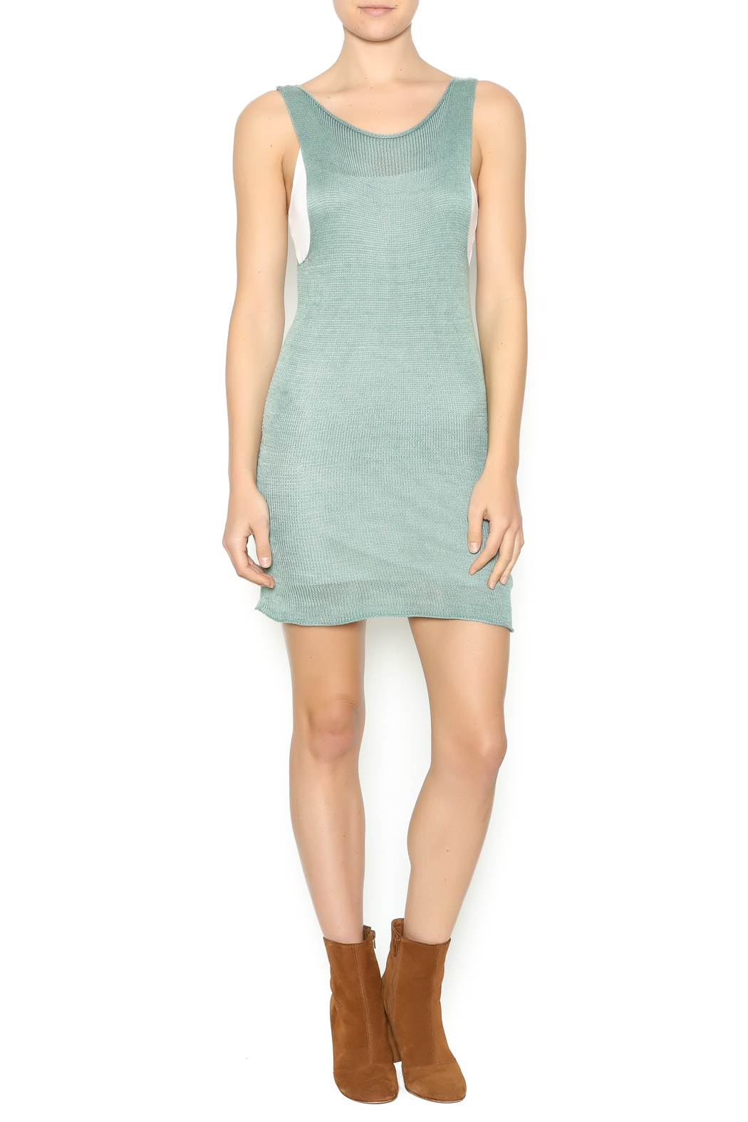 DC KNITS Sleeveless Bamboo Dress - Front Full Image