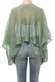 DC KNITS Green Linen Blend Sweater - Back cropped