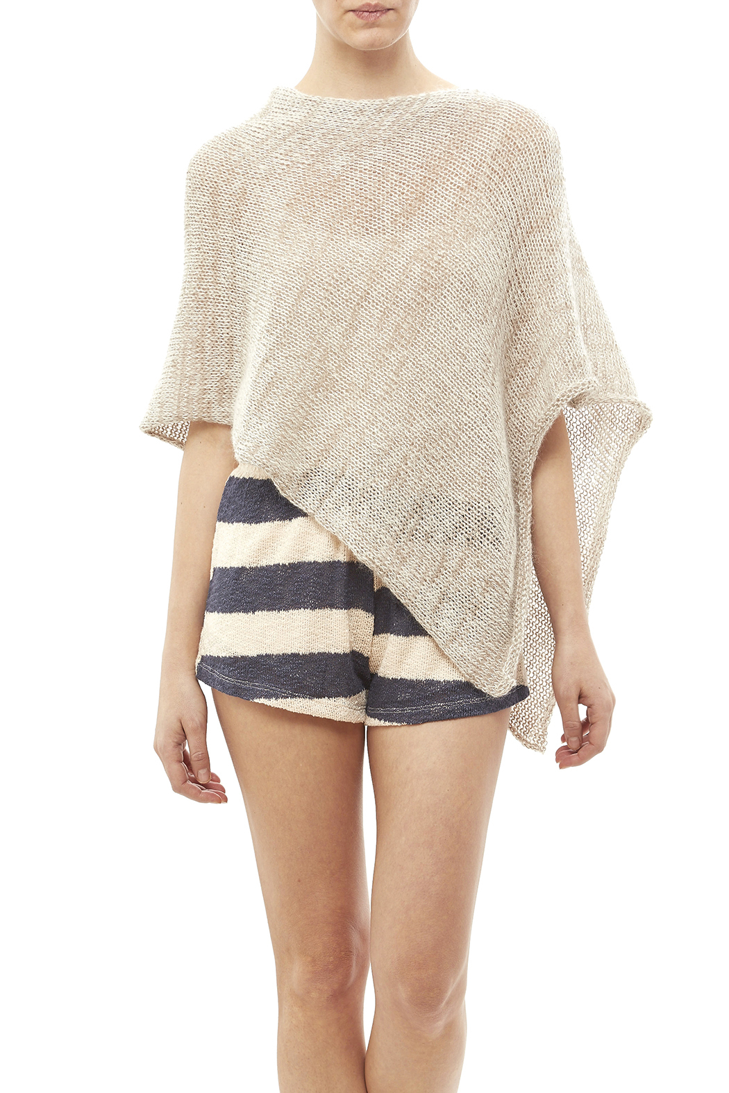 DC KNITS Mohair Blends Poncho - Front Cropped Image