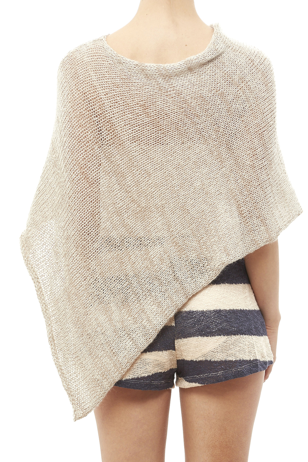 DC KNITS Mohair Blends Poncho - Back Cropped Image