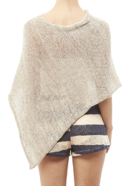 DC KNITS Mohair Blends Poncho - Back cropped