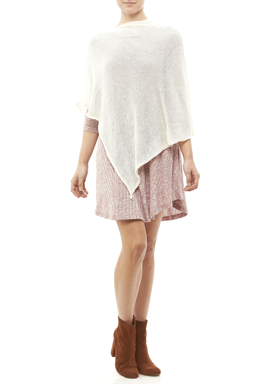 DC KNITS Rayon Sheen Poncho - Front Full Image