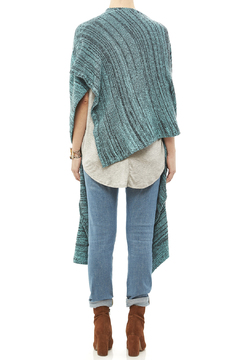 DC KNITS Anthracite Cashmere Ruana - Alternate List Image