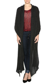 DC KNITS Anthracite Cashmere Ruana - Front cropped