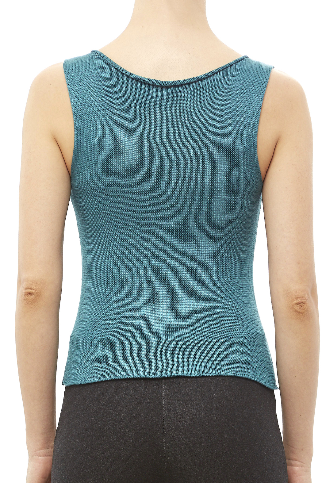 DC KNITS Sleeveless Bamboo Top - Back Cropped Image
